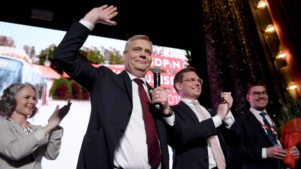 Social Democratic Party leader Antti Rinne, 14 April 2019