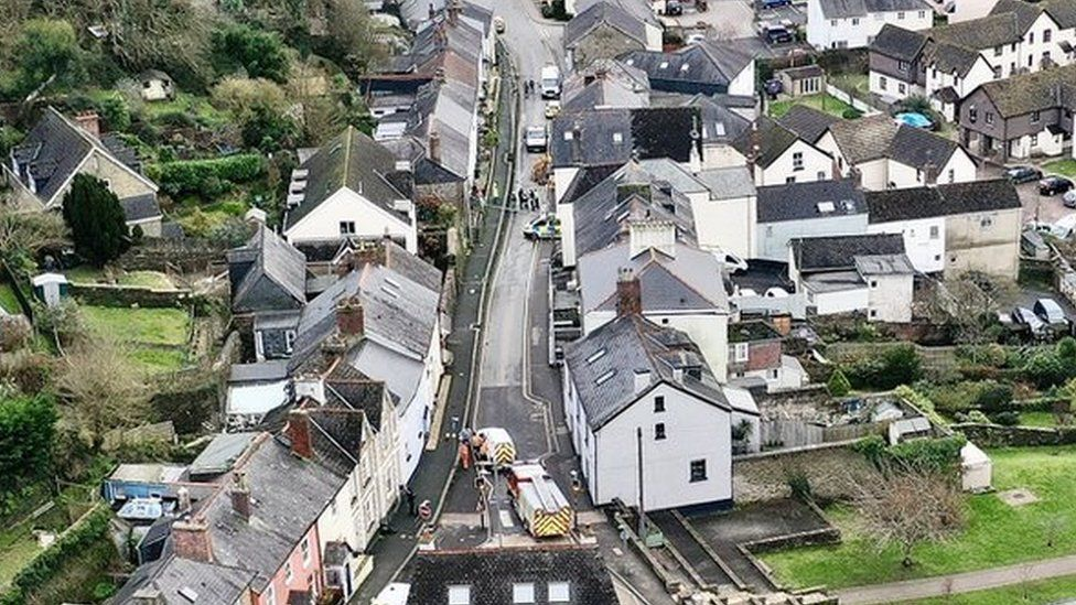Aerial shot of Church Street in Kingsbridge