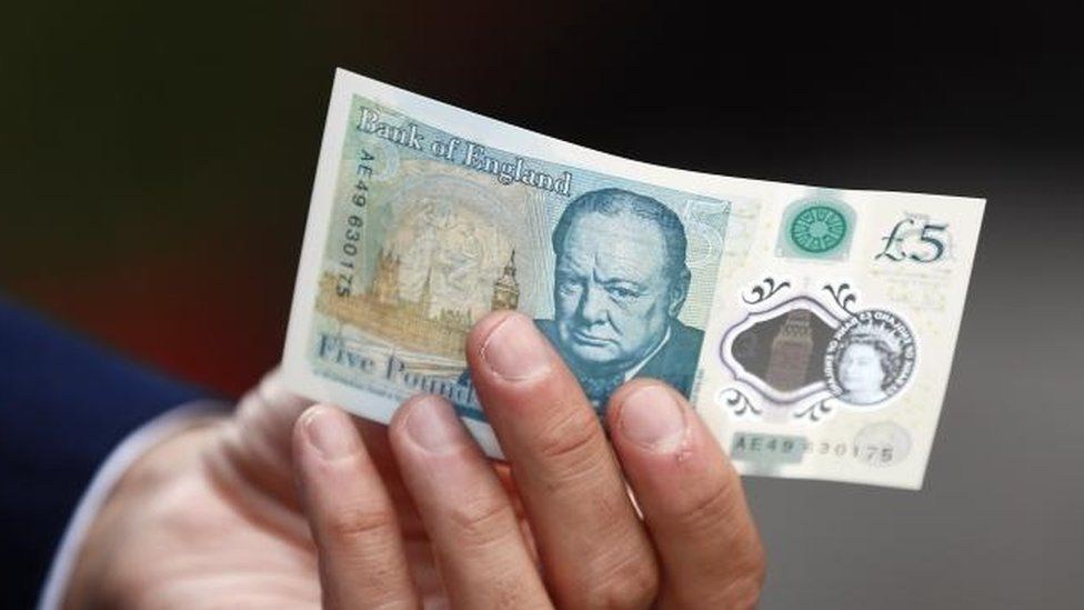 New polymer £5 note