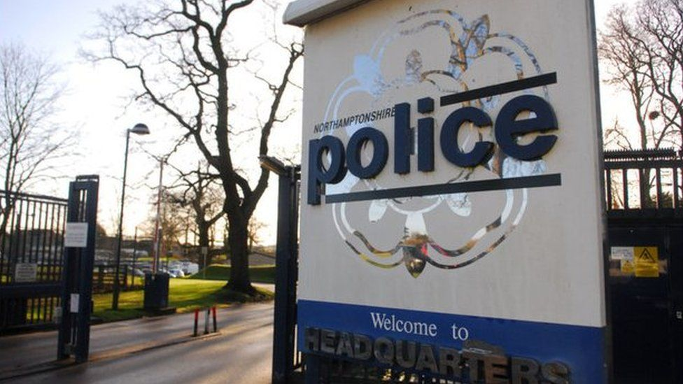 Northamptonshire police headquarters sign
