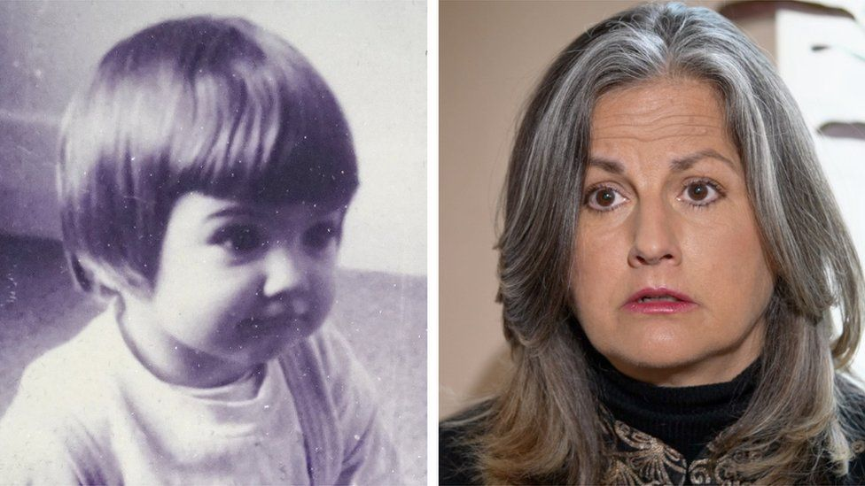 Rachel Langham composite image as a child and now