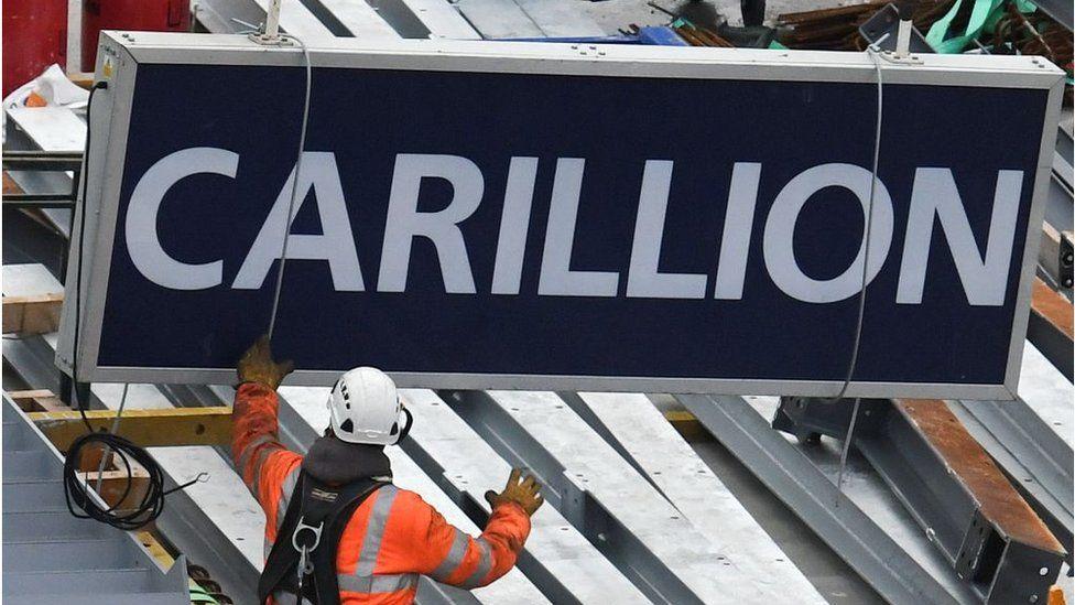 Carillion signboard