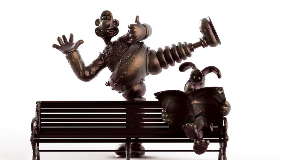 Wallace and Gromit bench