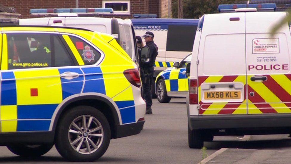 police raid in Moss side