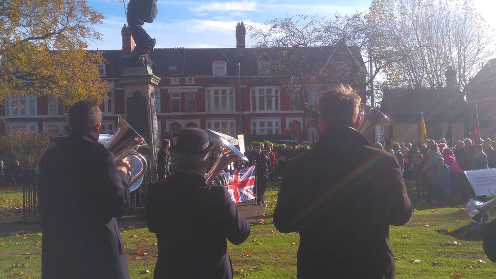 Remembrance service in Grangetown