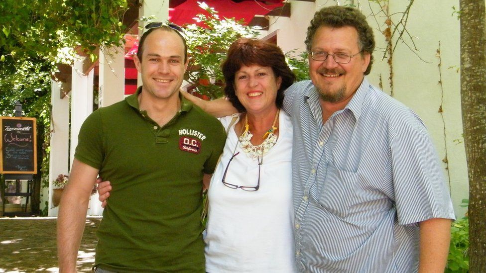 Emile Cilliers with mother Zaan and father Stolz
