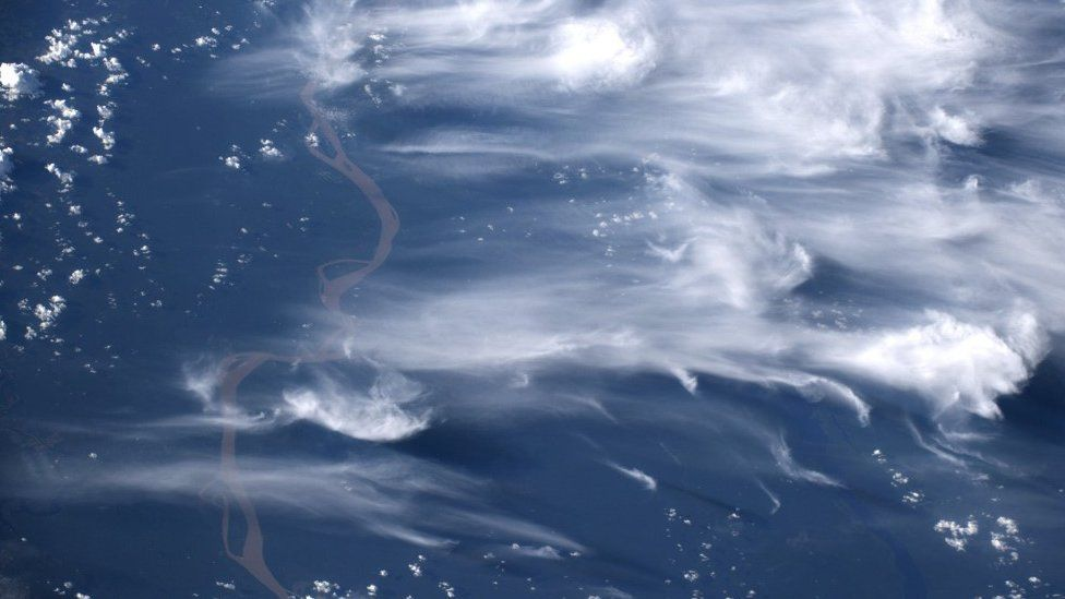 Smoke from Amazon fires captured from the ISS (c) ESA/NASA