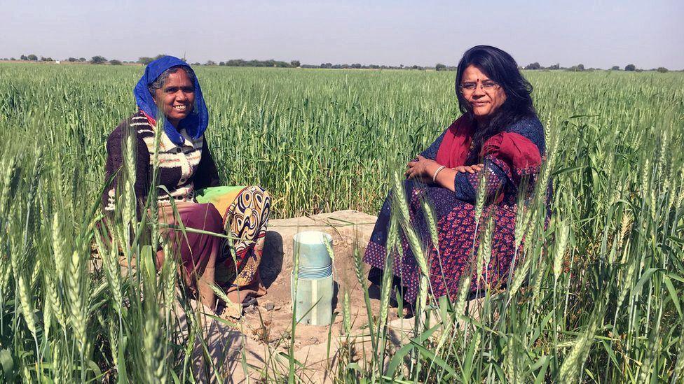 Kesar Behan (left) and Trupti Jain (right)