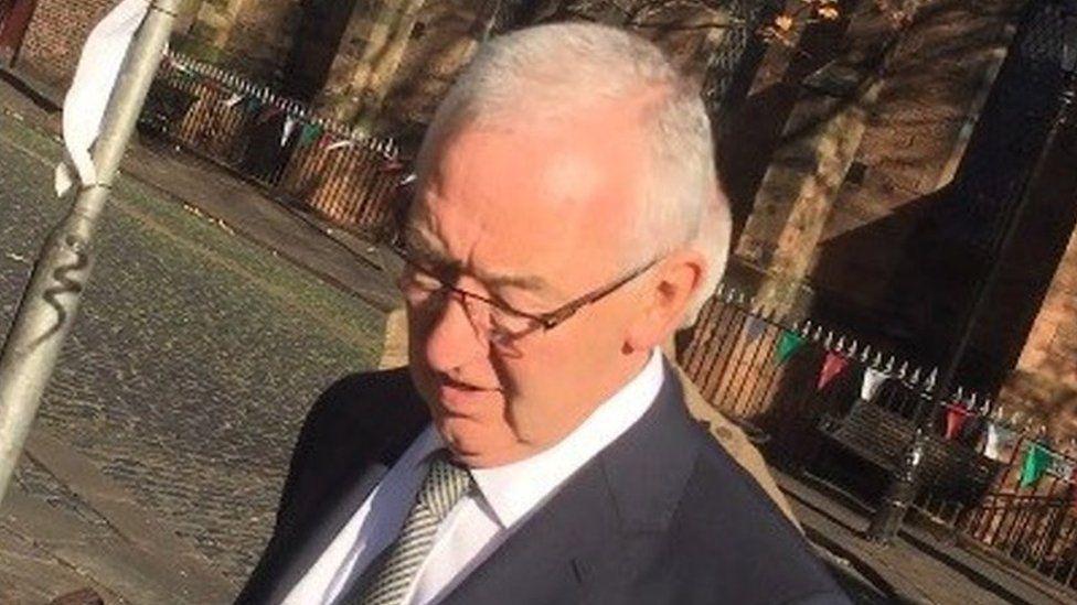 John Wood outside Carlisle Crown Court