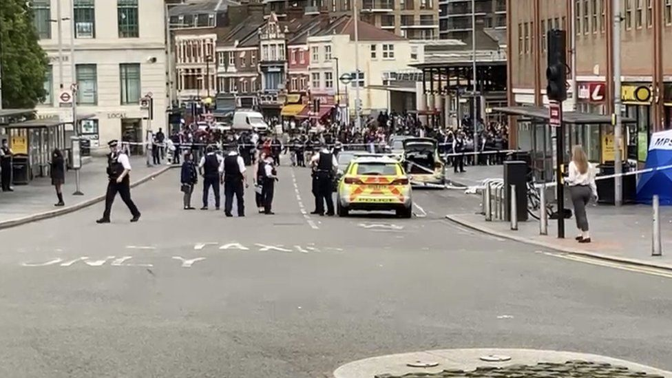 Police at scene of stabbing in Woolwich