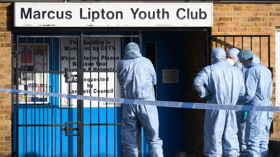 Youth club murder scene