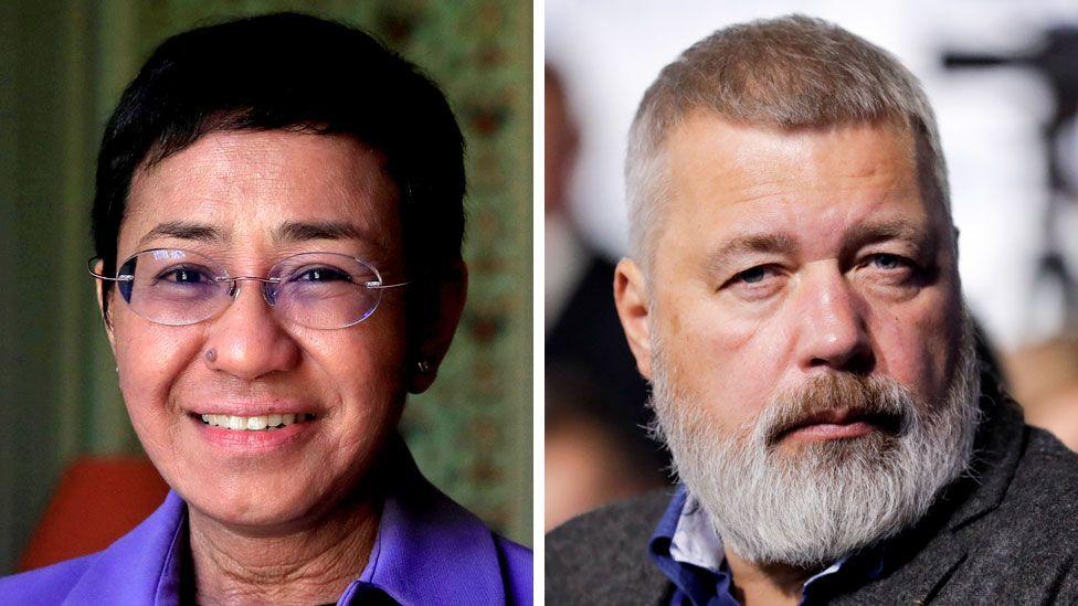 Nobel Peace Prize: Journalists Maria Ressa and Dmitry Muratov share award thumbnail