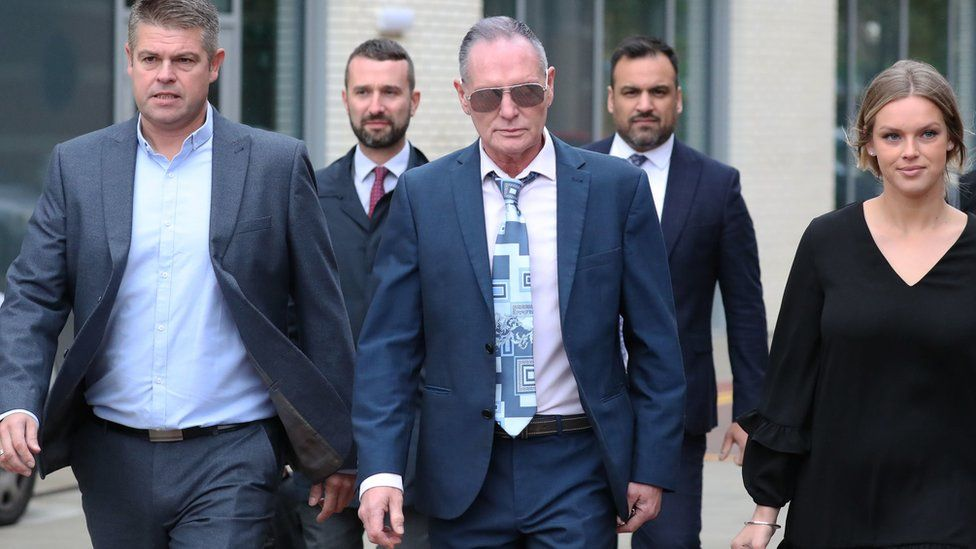 Paul Gascoigne at Teesside Magistrates' Court charged with sexual assault