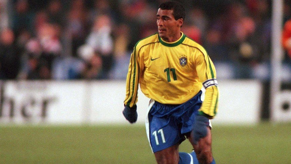 Romario playing in 1998 for national side