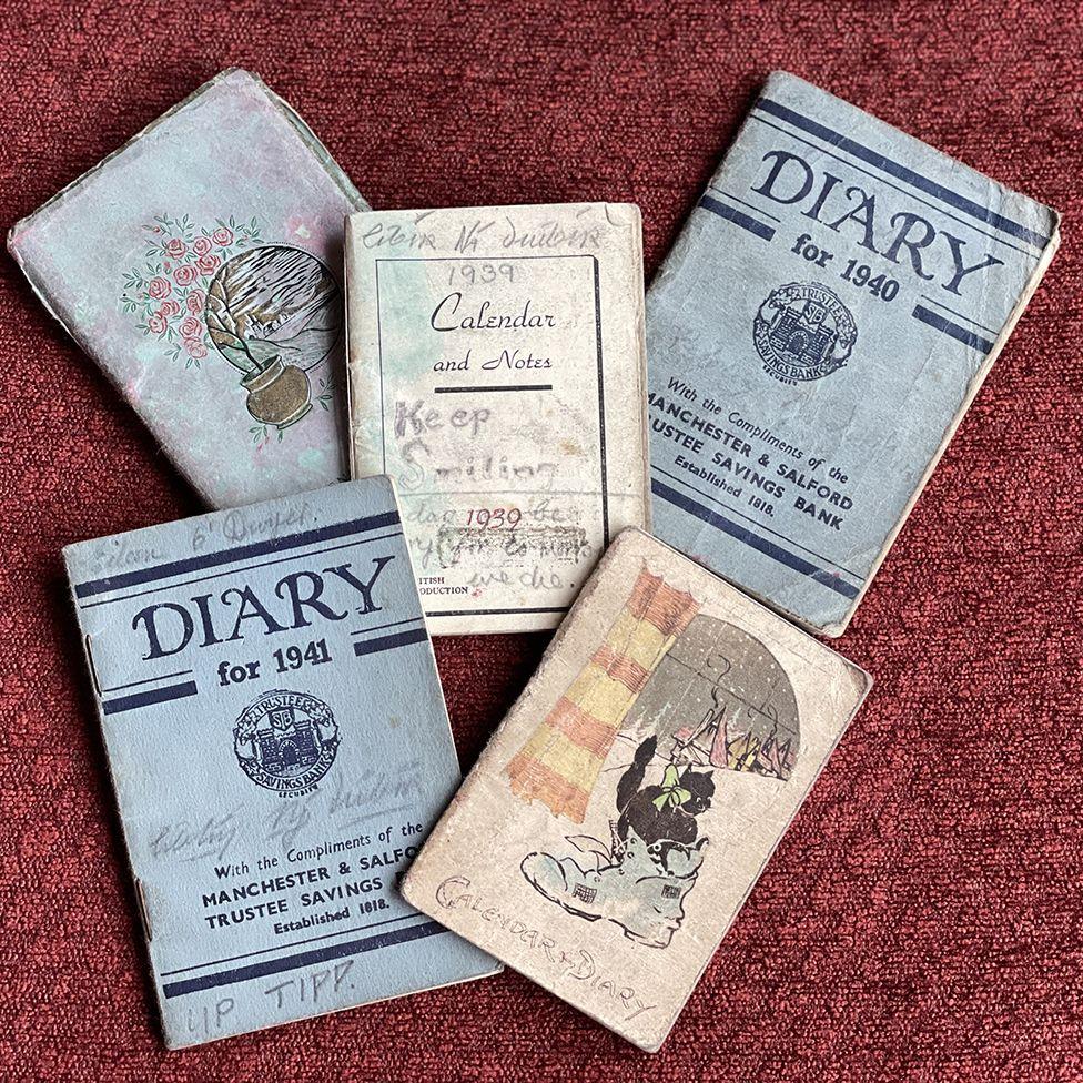 Eileen's five war diaries