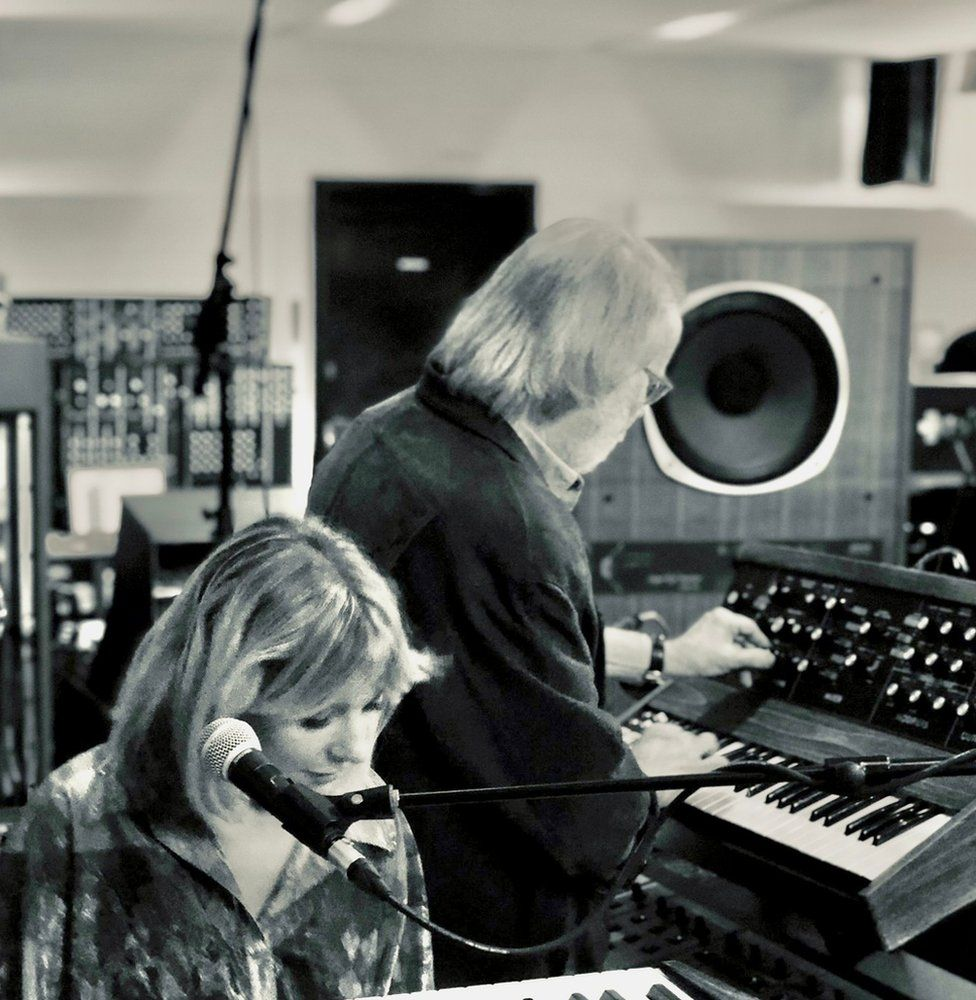 Little Boots in the studio with Benny Andersson