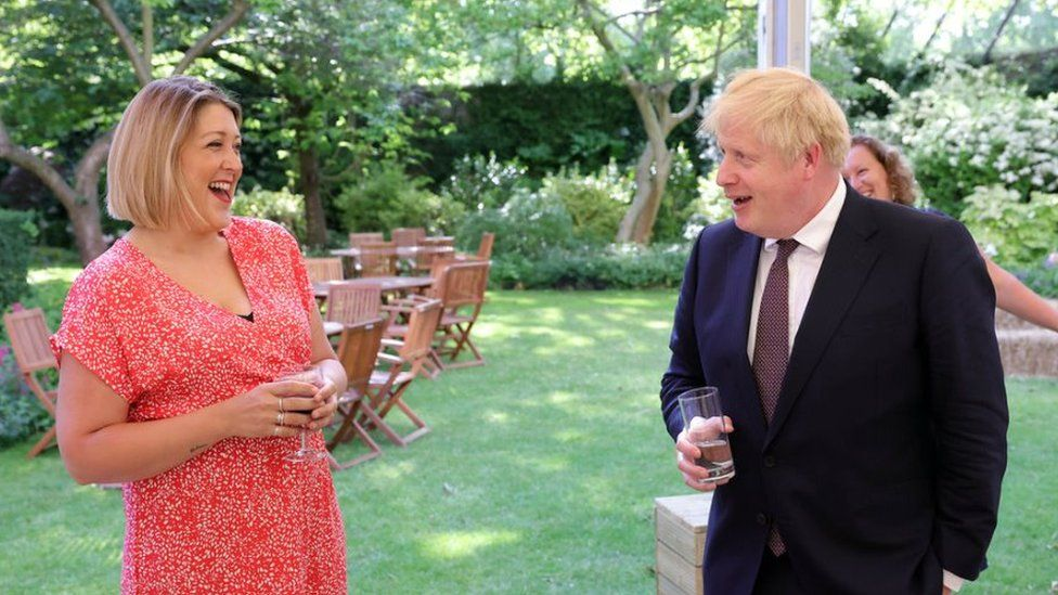 Holly King-Mand and Boris Johnson