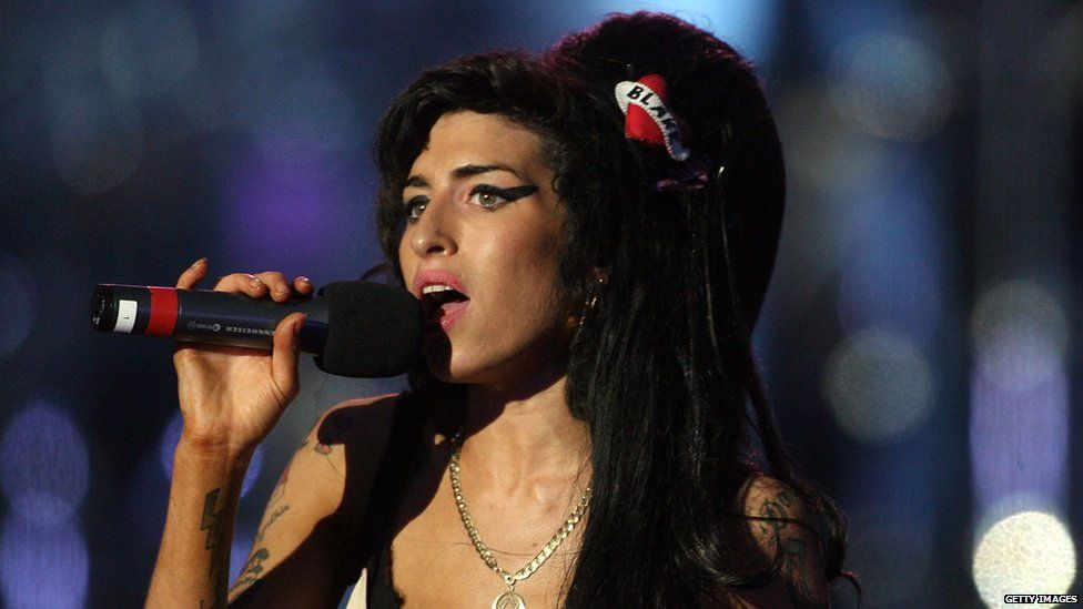 The singer Amy Winehouse