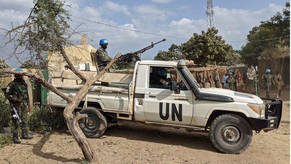 UNAMID peacekeepers in Nertiti