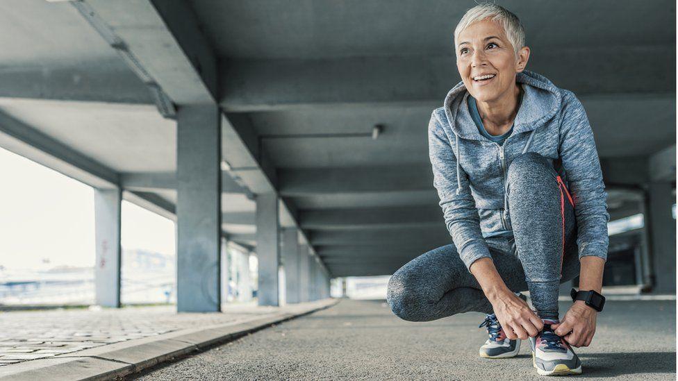 older sporty woman