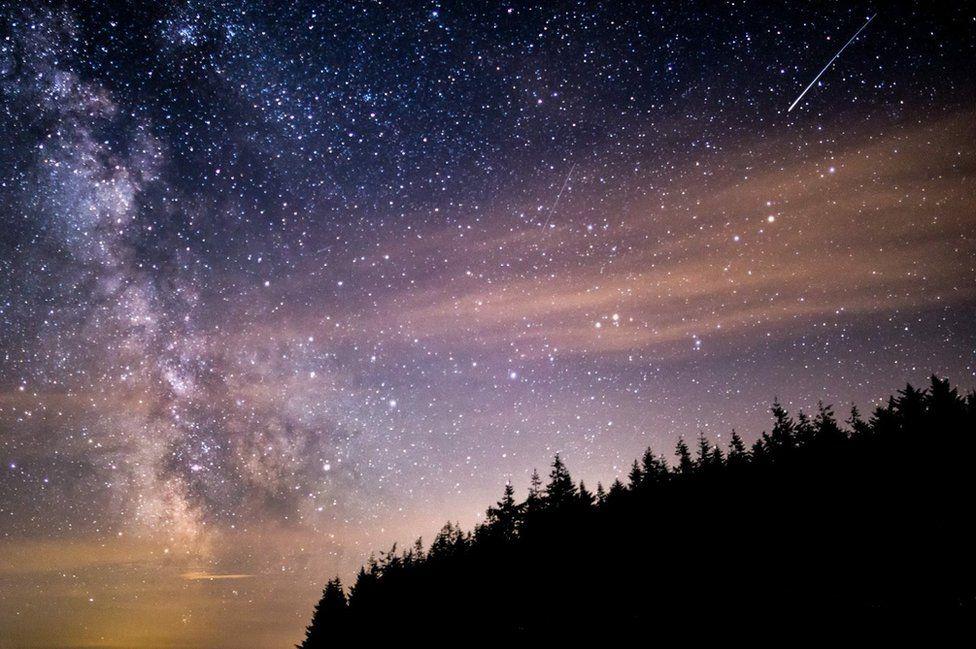 Perseid meteor shower in Exmoor