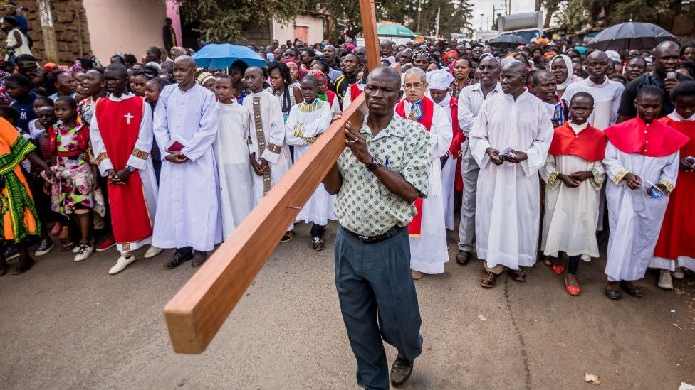 Good Friday procession in Kenya