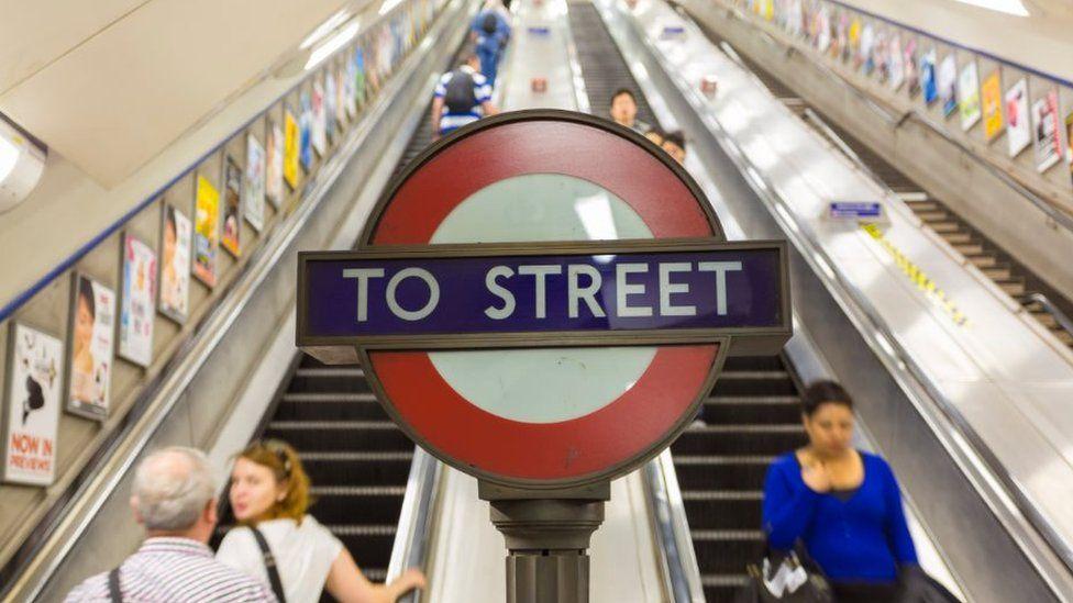 Escalator on the London Underground
