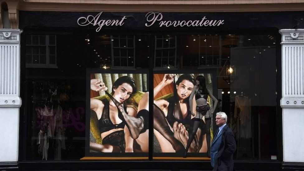 An Agent Provocateur shop front