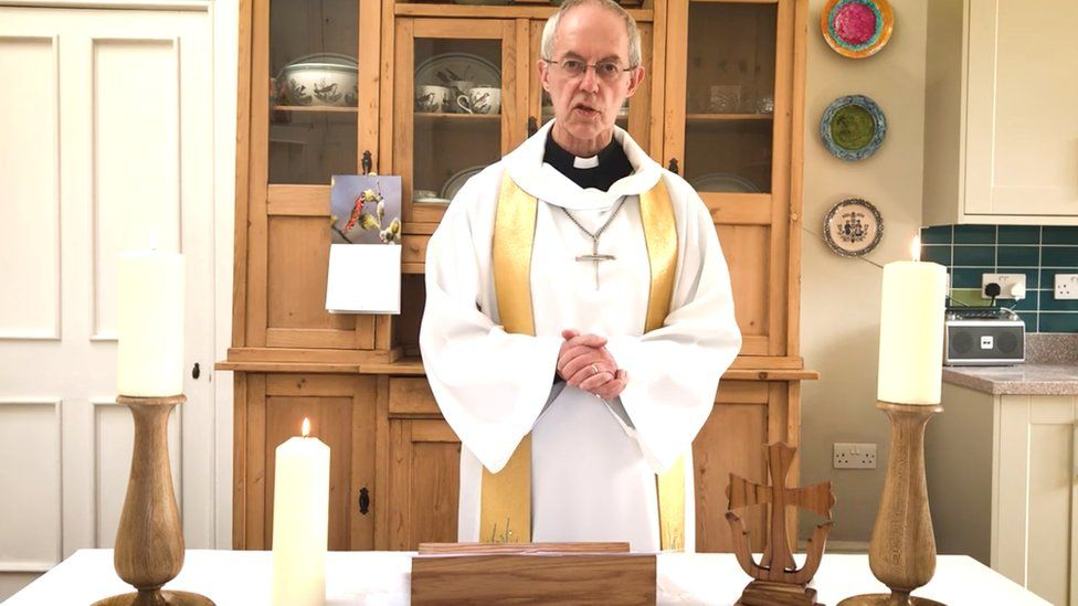 The Archbishop of Canterbury Justin Welby delivers his Easter Sunday sermon
