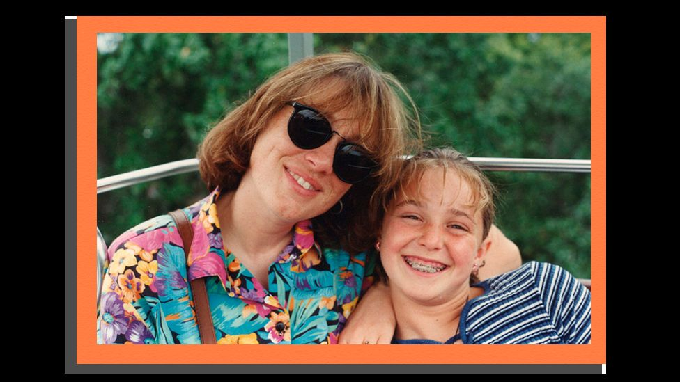 Images shows Erica Harvey with her mother Cynthia Clark Harvey smiling in family photograph