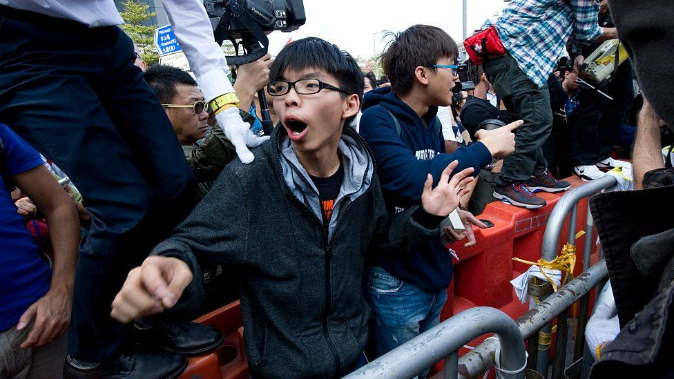 Joshua Wong at the Occupy Central protests