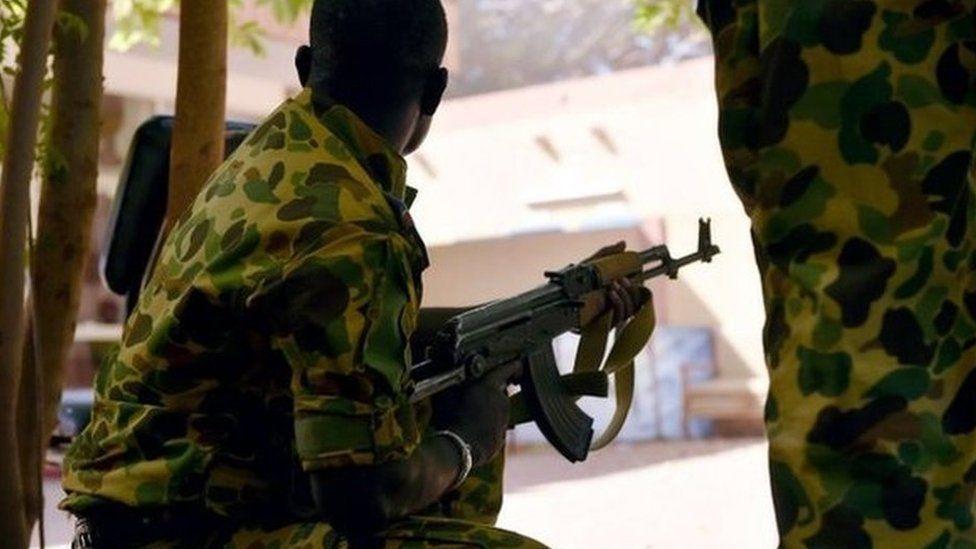 A soldier in Ouagadougou. File photo