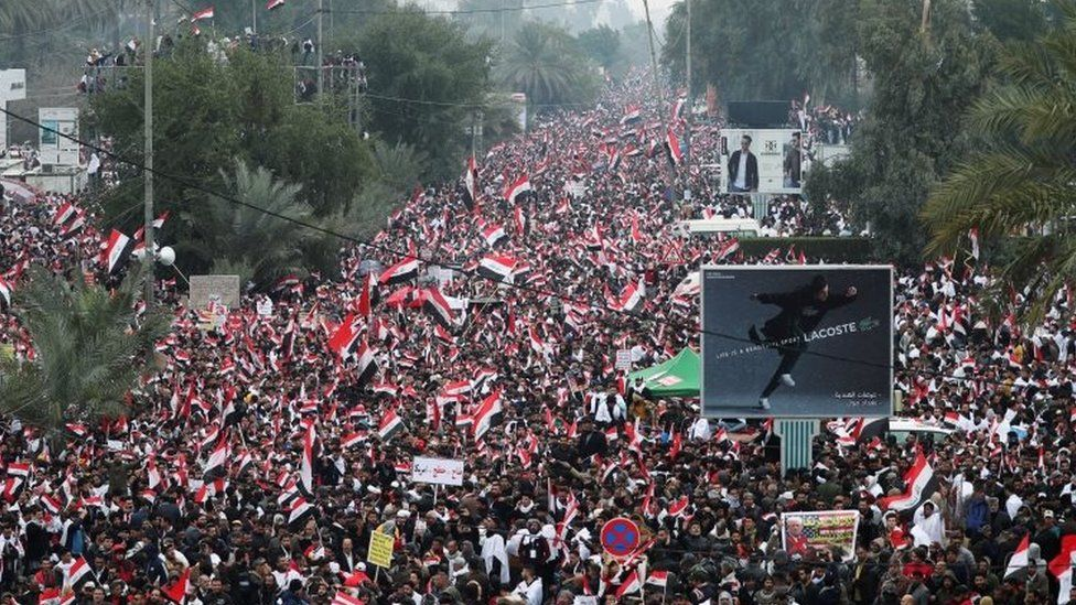 Protesters in Baghdad, Iraq. Photo: 24 January 2020