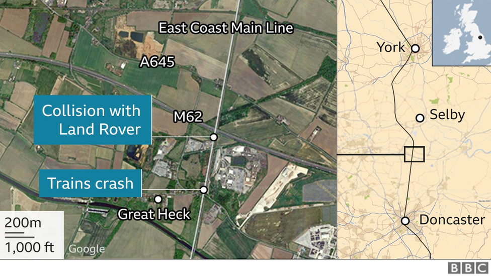Map of the crash