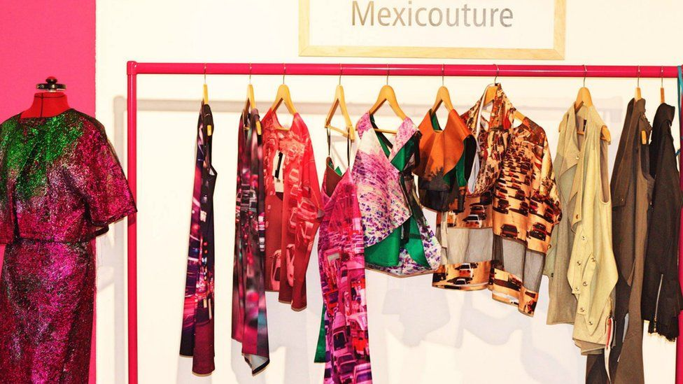 Clothes on show at the Mexican Design pop-up