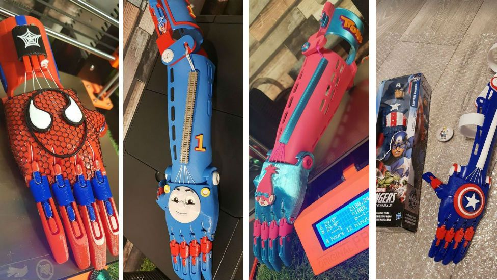 Some of the arms made by Adam Dengel