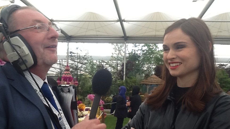 Andy Potter with Sophie Ellis-Bextor