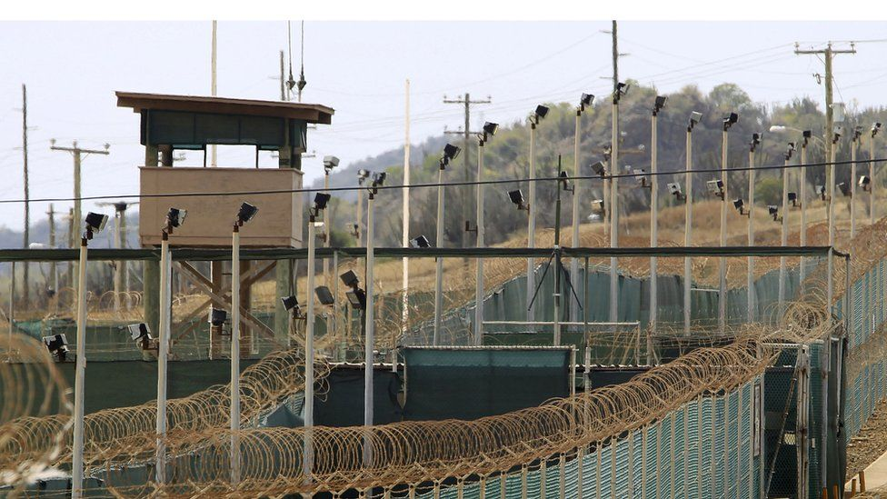 The exterior of Guantanamo bay detention camp in 2013