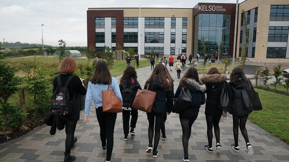 Pupils at Kelso High return to the classroom