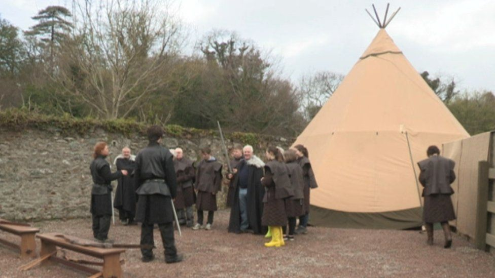 Tourists taking part in the 'Game of Thrones Experience'