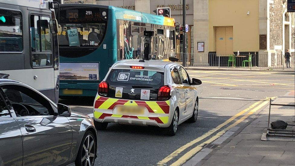 A traffic enforcement car