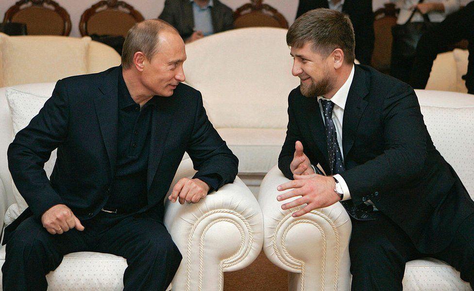 Vladimir Putin and Ramzan Kadyrov in 2007