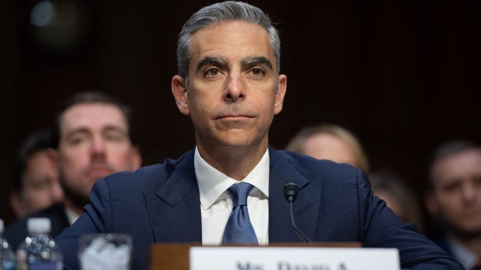 David Marcus, Head of Calibra at Facebook, testifies about the company's proposed digital currency Libra.