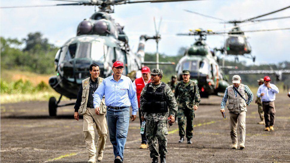 Mr Vizcarra supervises the operation in Putumayo