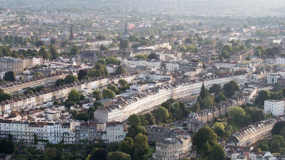 Aerial shot of Bristol