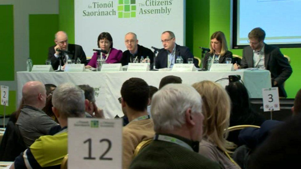 The Irish Citizens' Assembly hears from a panel of experts
