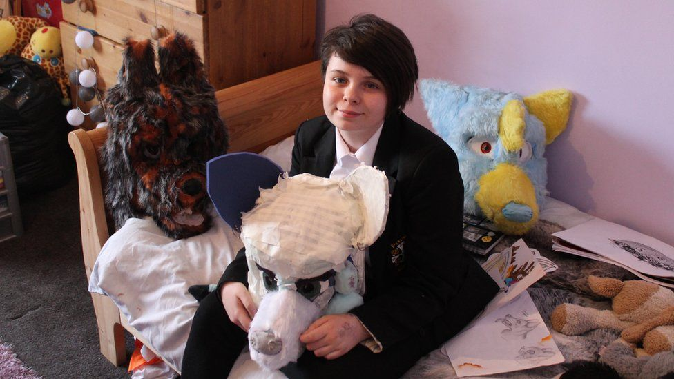Furry Fandom Cornwall Schoolgirl S Costumes Reflect Fursonas Bbc News