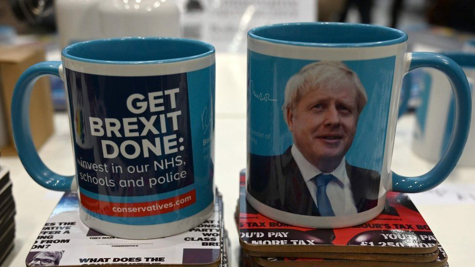 "Boris Johnson ""Get Brexit Done"" mugs"