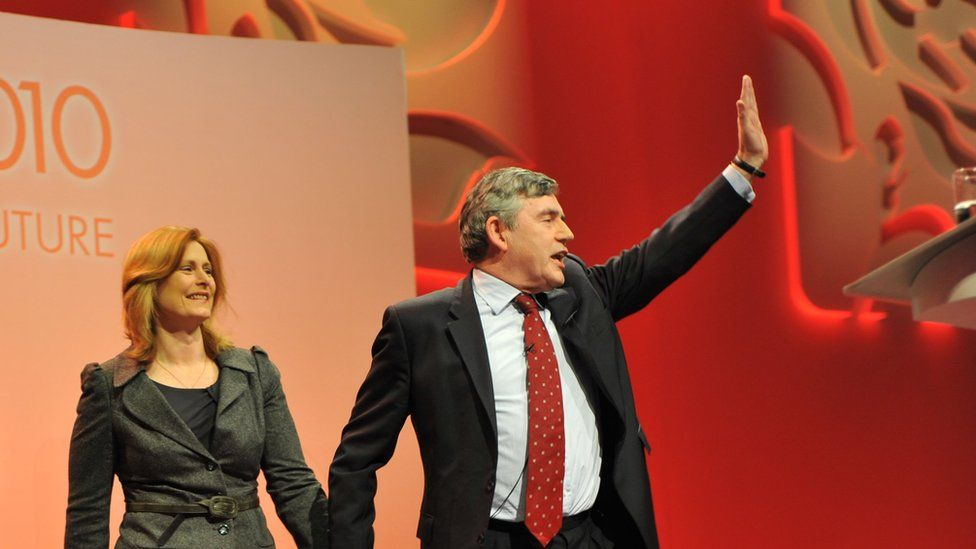 Gordon Brown and his wife Sarah at the Labour Party conference