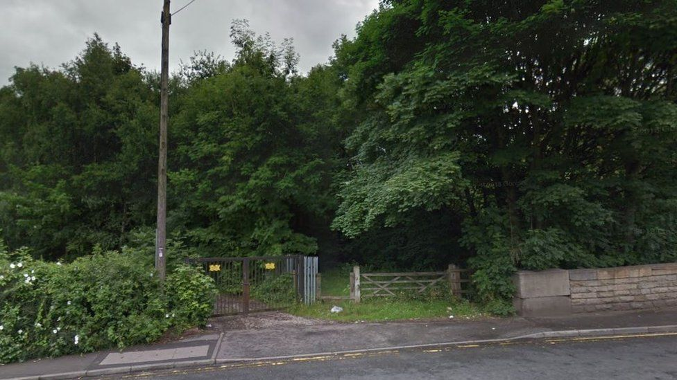 Wooded area near Cavendish Street